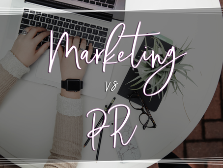 The Differences between Marketing and PR