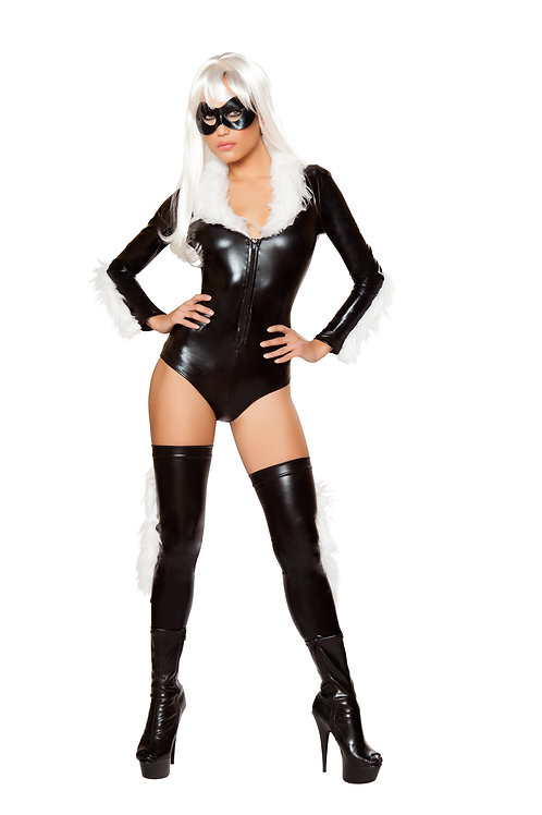 ROMA SEXY FUR CAT WOMAN ROMPER COSTUME