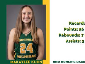 Kuhn gets spotlight for NMU sweep of Parkside