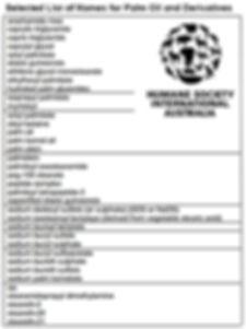 arachamide mea caprylic triglyceride capric triglyceride caprylyl glycol cetyl palmitate elaeis guineensis ethtlene glycol monostearate ethylhexyl palmitate hydrated palm glycerides isopropyl palmitate myristoyl octyl palmitate oleyl betaine palm oil palm