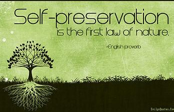 bush is self preservation