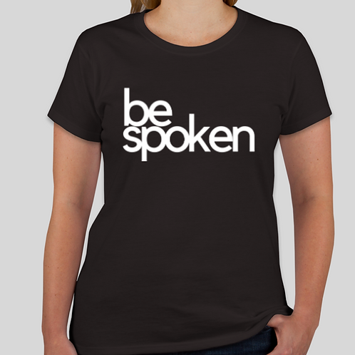 bespoken Women's T-shirt  (available in black and white)