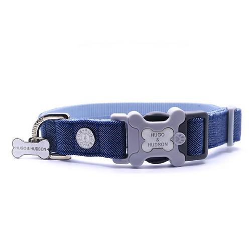 Hugo & Hudson Blue Denim Collar - Medium