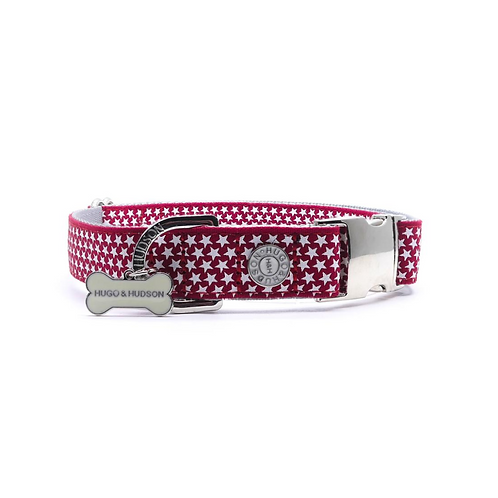 Hugo & Hudson Red White Star Collar - Medium