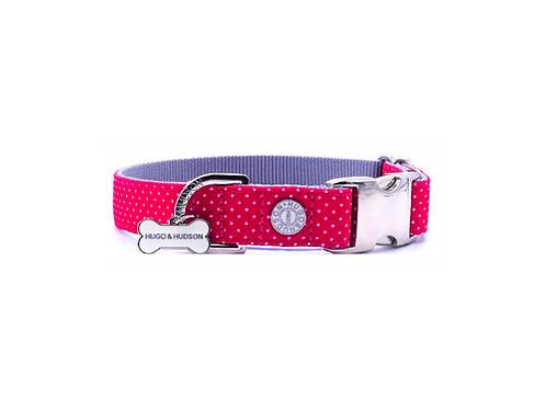 Hugo & Hudson Fuchsia Pink Polka Dot Collar - Small