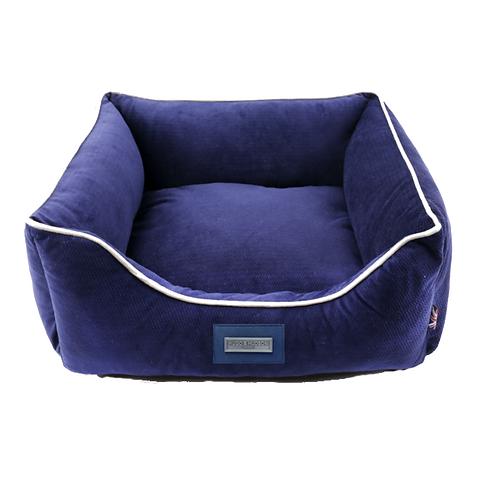 Hugo & Hudson Blue Plush Dog Bed - Medium