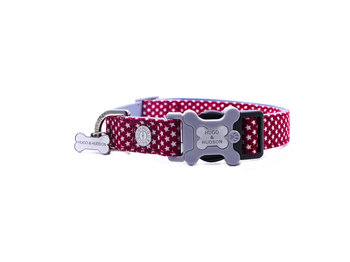 Hugo & Hudson Red Star Collar - Medium