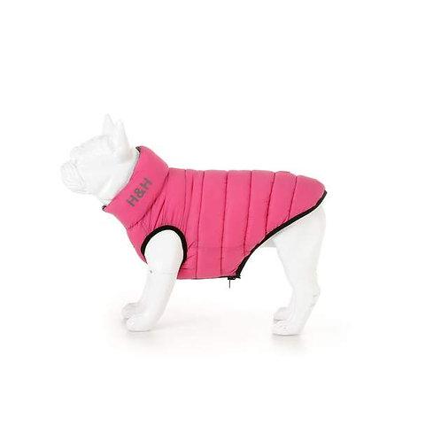 Hugo & Hudson Pink & Grey Reversible Puffer Jacket - S30