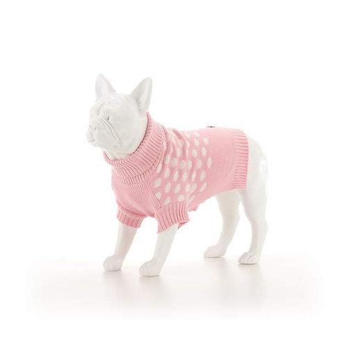 Sydney & Co Pink & White Spot Jumper - Large