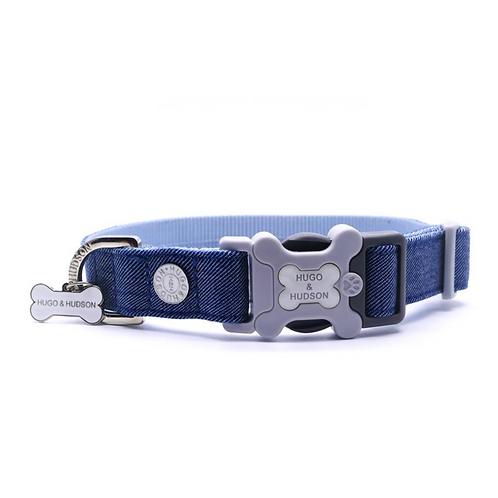 Hugo & Hudson Blue Denim Collar - Small