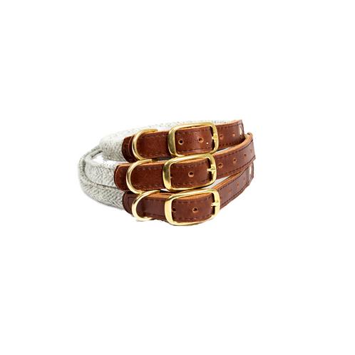 Tweedmill Grey Herringbone Rolled Collar - Small