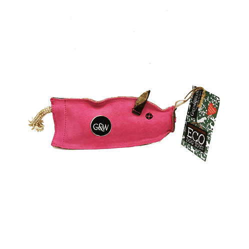 Green & Wilds Pink Peggy the Pig Dog Toy