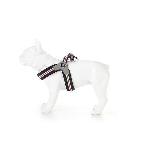 Hugo & Hudson Blue, Red & White Stripe Easy Fit Harness - Size 2