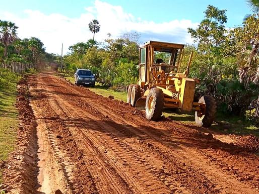 SDR retoma recuperação de estradas na zona rural