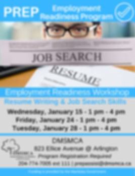 Employment Readiness Workshops - January