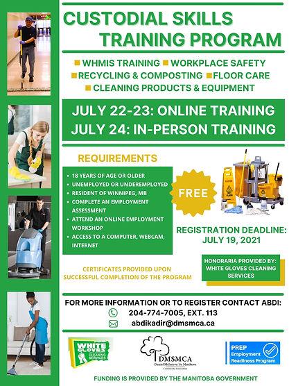 CUSTODIAL SKILLS TRAINING POSTER JULY202