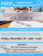 Employment Readiness Workshops - Decembe