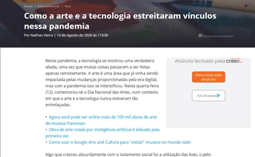 Canaltech - 2020 - O GRITO