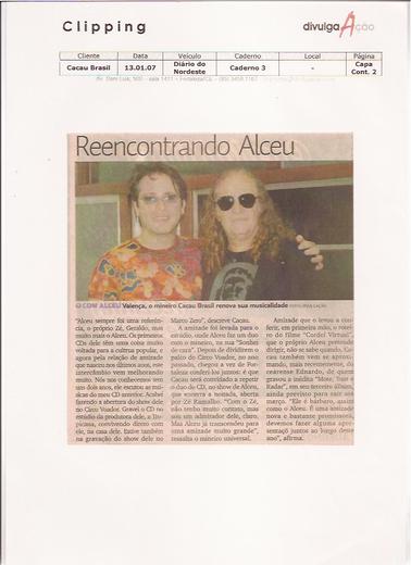 Show Siordeara Hall - Cacau Brasil e Alceu Valença