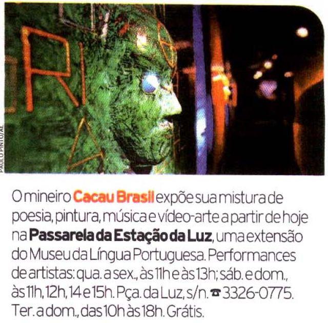 Jornal da Tarde - SP - Exposição MISTERIOTEMPOEMPOESIAS