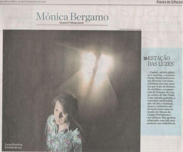 Página Ilustrada - Monica Bergamo - Instalação MISTERIOTEMPOEMPOESIAS