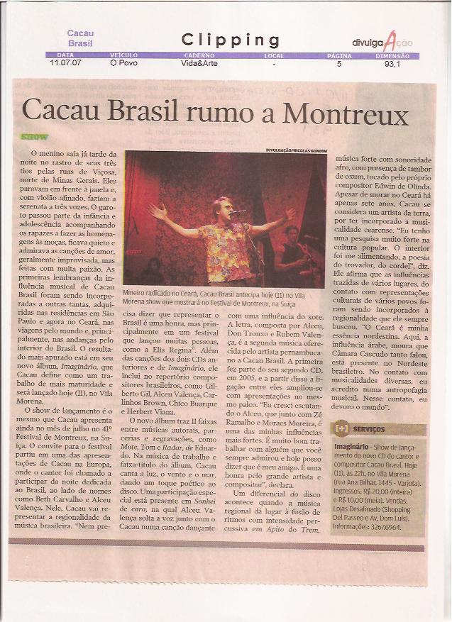Show Cacau Brasil em Montreux Jazz Festival