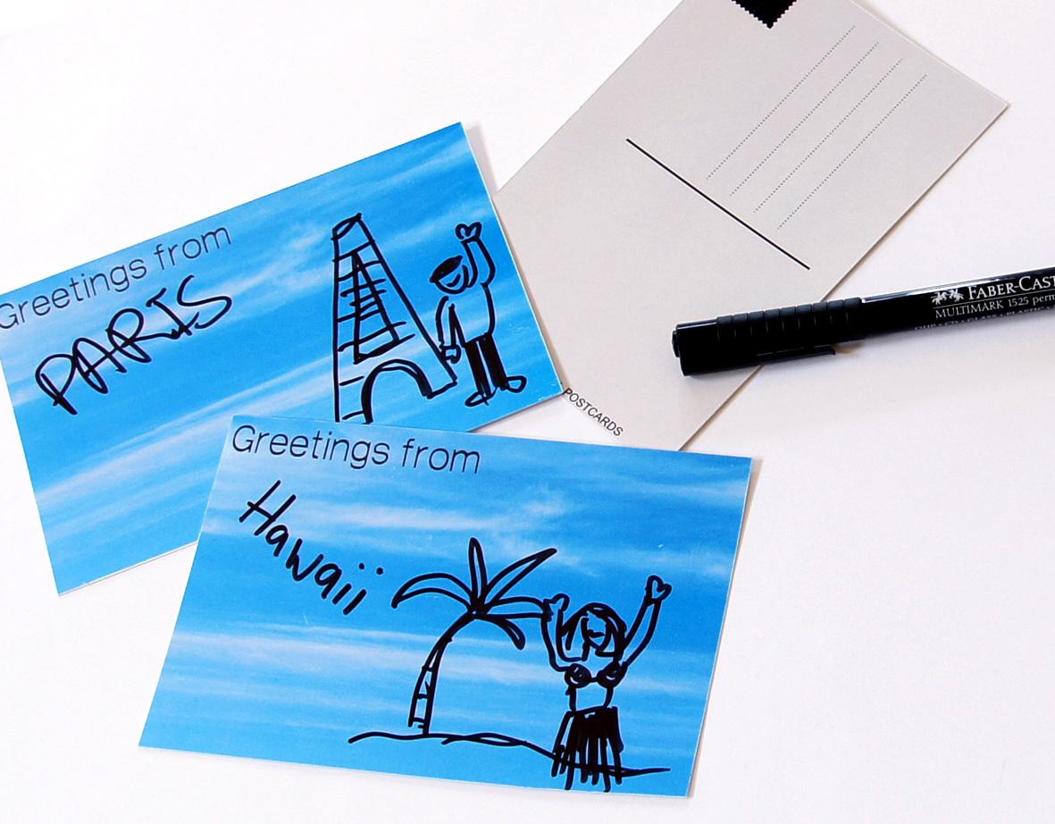 Blue skys postcards