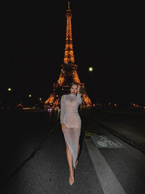 White Diamonds Maxi Dress