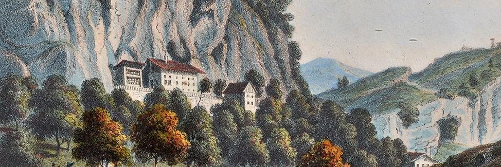 Weber Farblithographie von Emminger vor