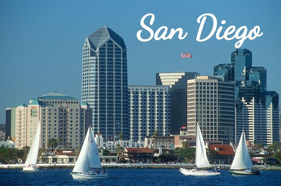 Skyline of San Diego, California from Co