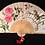 "Thumbnail: Hand Painted Fan ""Carolina Wren and Roses"""