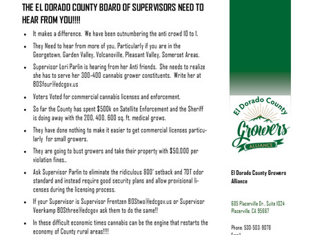 The Board of Supervisors Need to Hear From You!