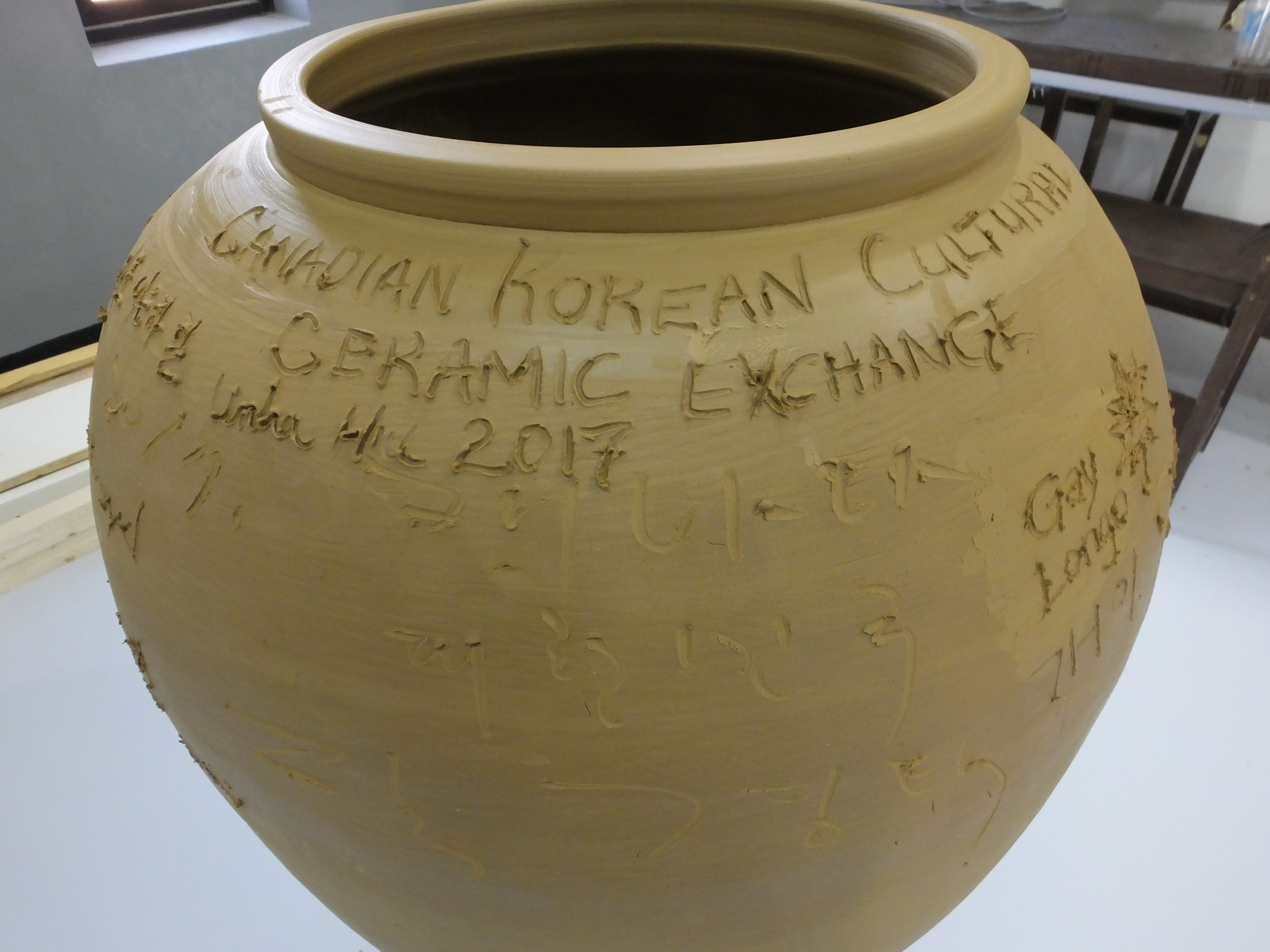The group made vase/urn