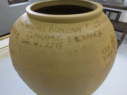The group made vase/urn
