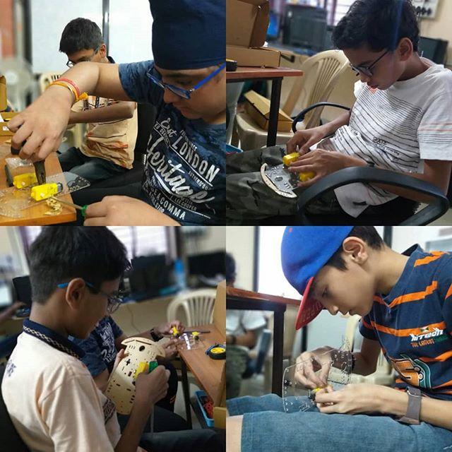Robot Building_#Makercamp2019 _#robotbui