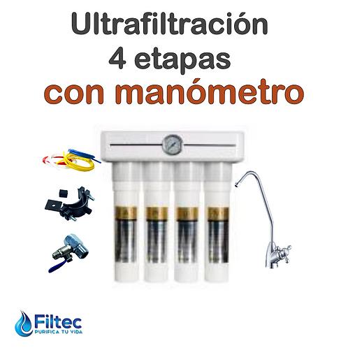 ULTRAFILTRACIÓN 4 ETAPAS Manómetro