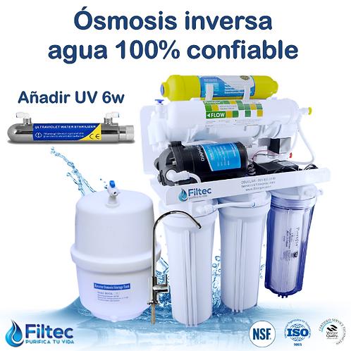 Filtec RO50-6UV GPD Con Ultravioleta