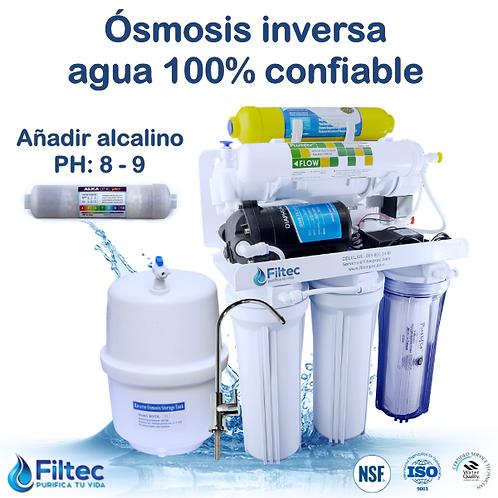 Filtec RO50-6A GPD Con Filtro Alcalino