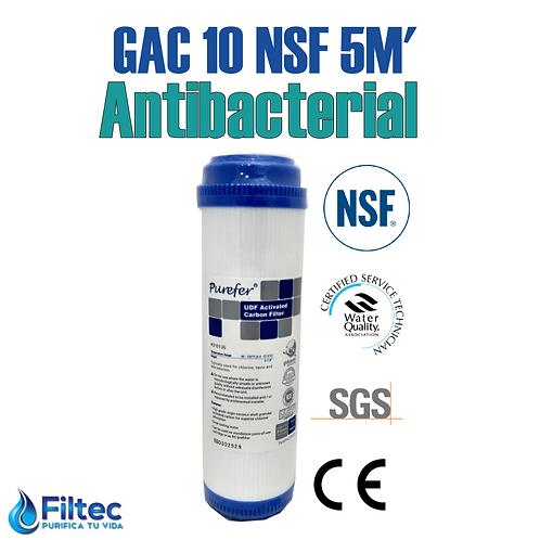 Cartucho Carbón GAC 10 NSF Antibacterial