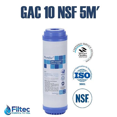 Cartucho Carbón Gac 10 NSF