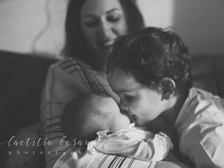 Capucine, photos de naissance à domicile à Suresnes