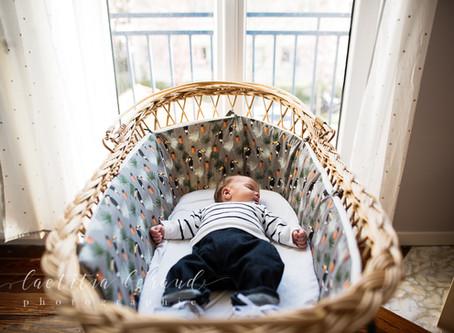 Séance photo nouveau-né de Basile à Colombes