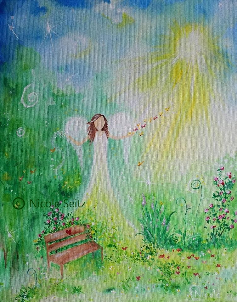 Engel im Herzensgarten