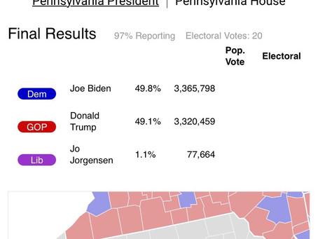 Jornal coloca Pensilvânia na corrida novamente.