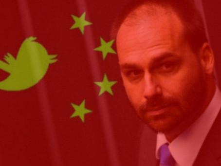 China ameaça Brasil ao responder Eduardo Bolsonaro.