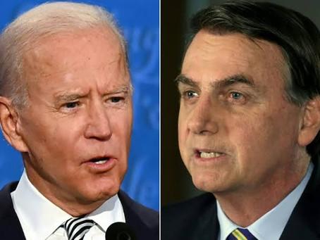 Jair Bolsonaro saúda Joe Biden como presidente.