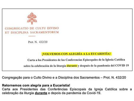 """Vaticano:""""Nenhuma transmissão [on-line] é equiparável à participação pessoal ou pode substituí-la"""""""