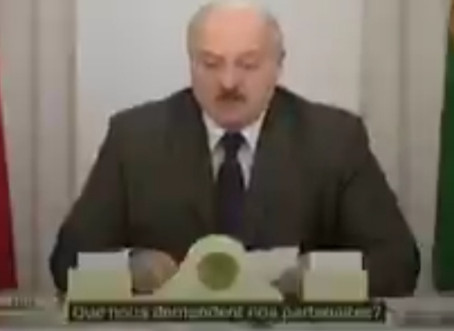 Presidente da Bielorrússia denunciou chantagem internacional.