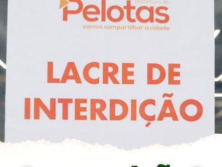 Loja da Havan é fechada em Pelotas por causa da fraudemia do vírus chinês.
