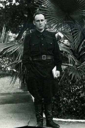 Богачев Аркадий Георгиевич, директор Рышковской школы,  участник партизанского движения. Фото 1947 г.
